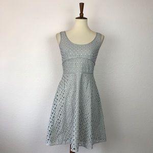 LOFT Dresses - Ann Taylor Loft Eyelet Cotton Fit Flare Dress D693